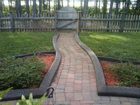 A Curbing Edge Decorative Concrete Landscape Borders